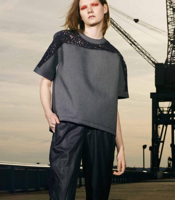 Kolor Lace-Panel T-Shirt