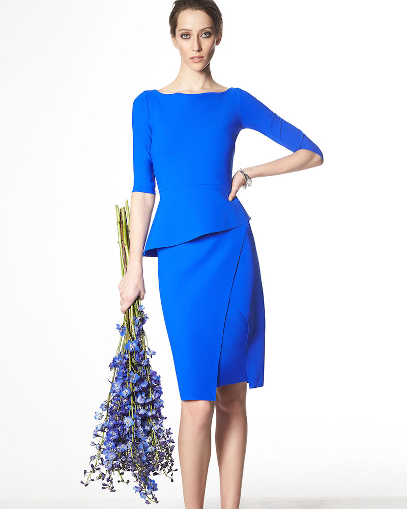 La Petite Robe di Chiara Boni Saskia 3/4-Sleeve Peplum Dress