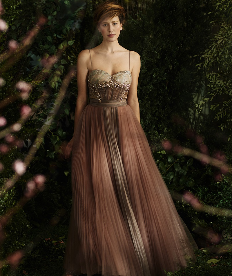 Mignon Embellished Sweetheart Gown
