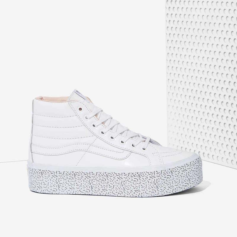 c6bf37ada Nasty Gal x Vans Step Up Sk8-Hi Leather Platform Sneaker