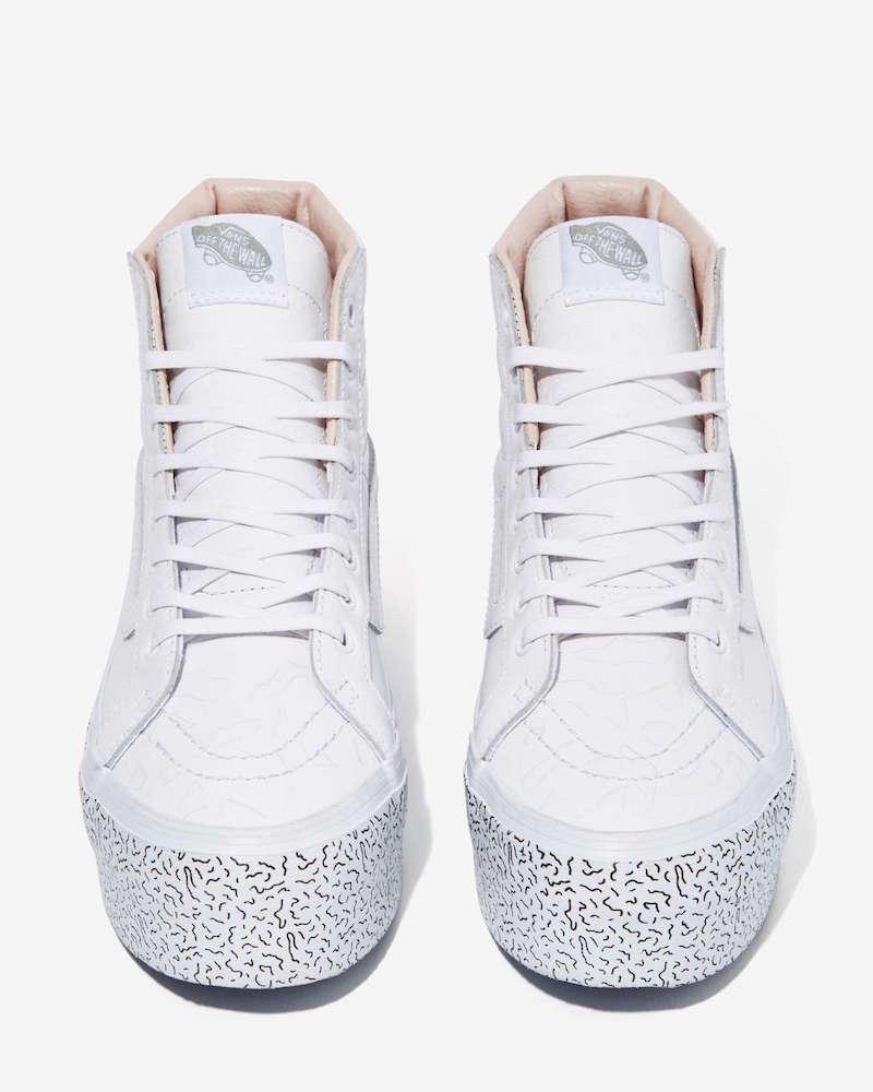 Nasty Gal x Vans Step Up Sk8-Hi Leather Platform Sneaker_1
