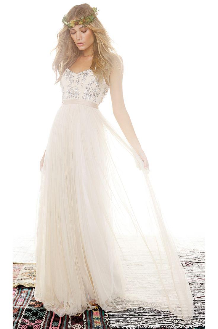 Needle & Thread Crystal Petal Maxi Dress
