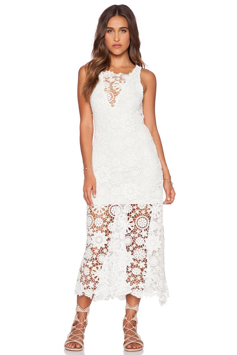 Nightcap Caribbean Crochet Flare Dress