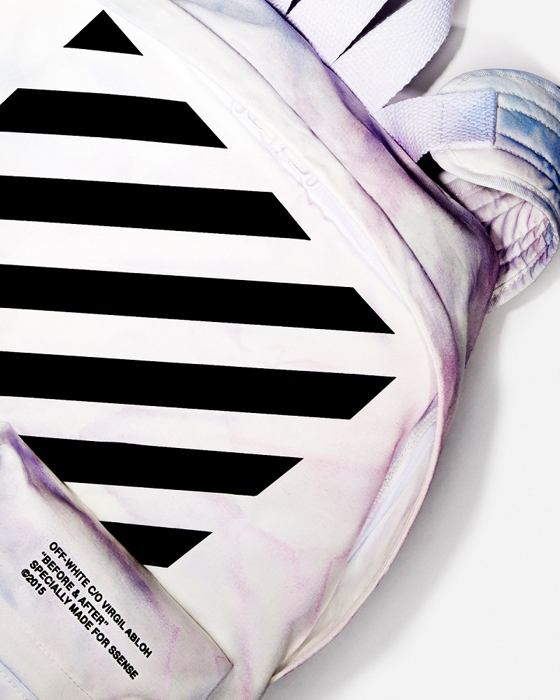 Off-White SSENSE Exclusive Blue & Purple Tie-Dye Backpack