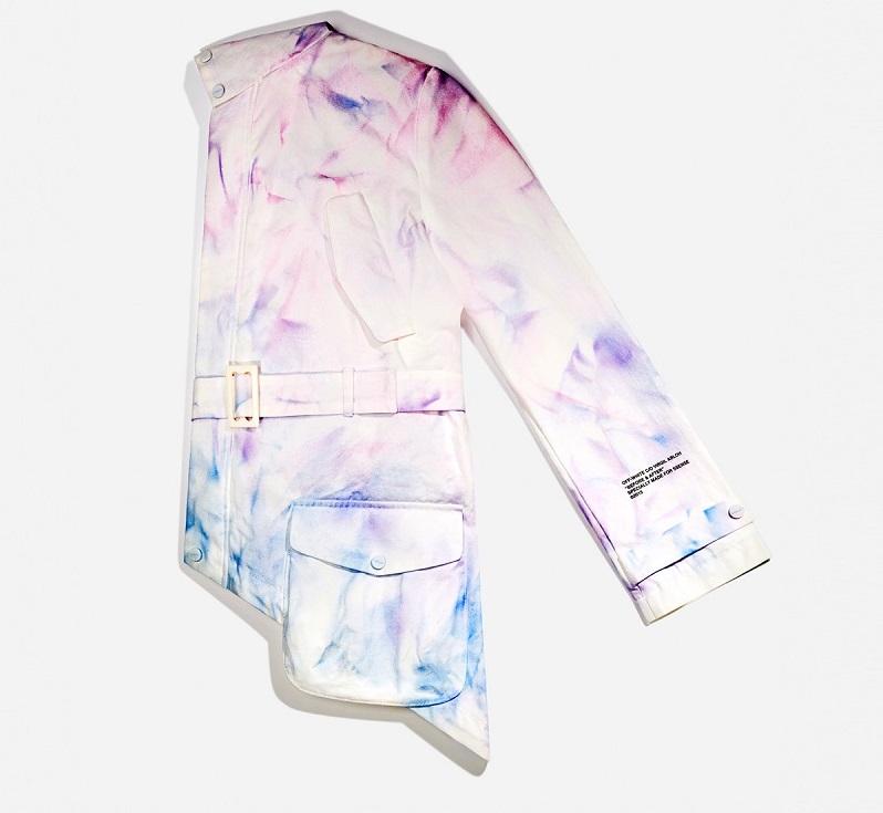 Off-White SSENSE Exclusive Blue & Purple Tie-Dye Coat