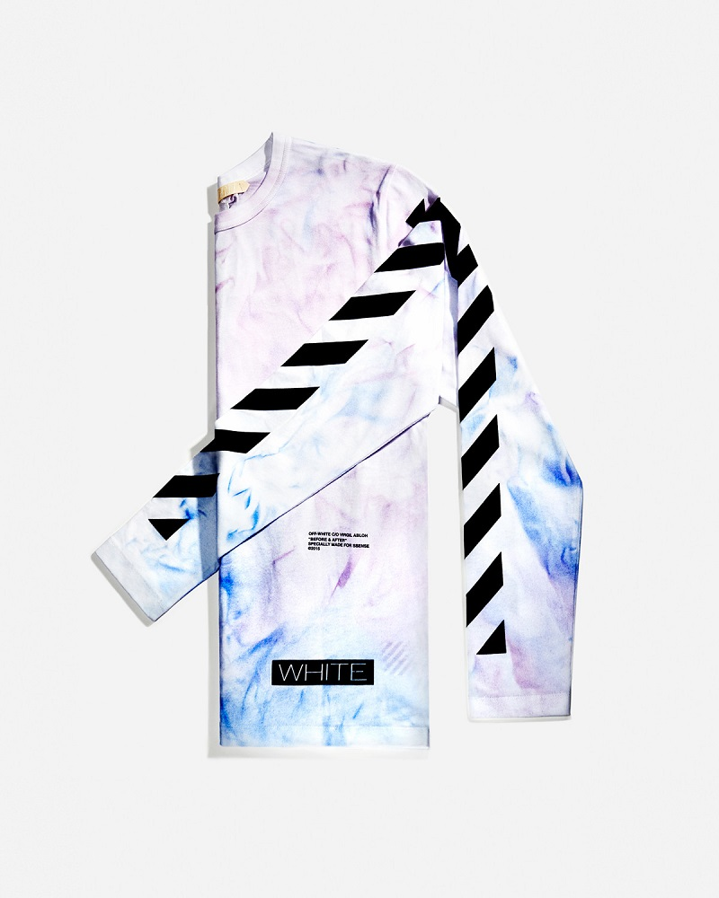 Off-White SSENSE Exclusive Blue & Purple Tie-Dye T-Shirt