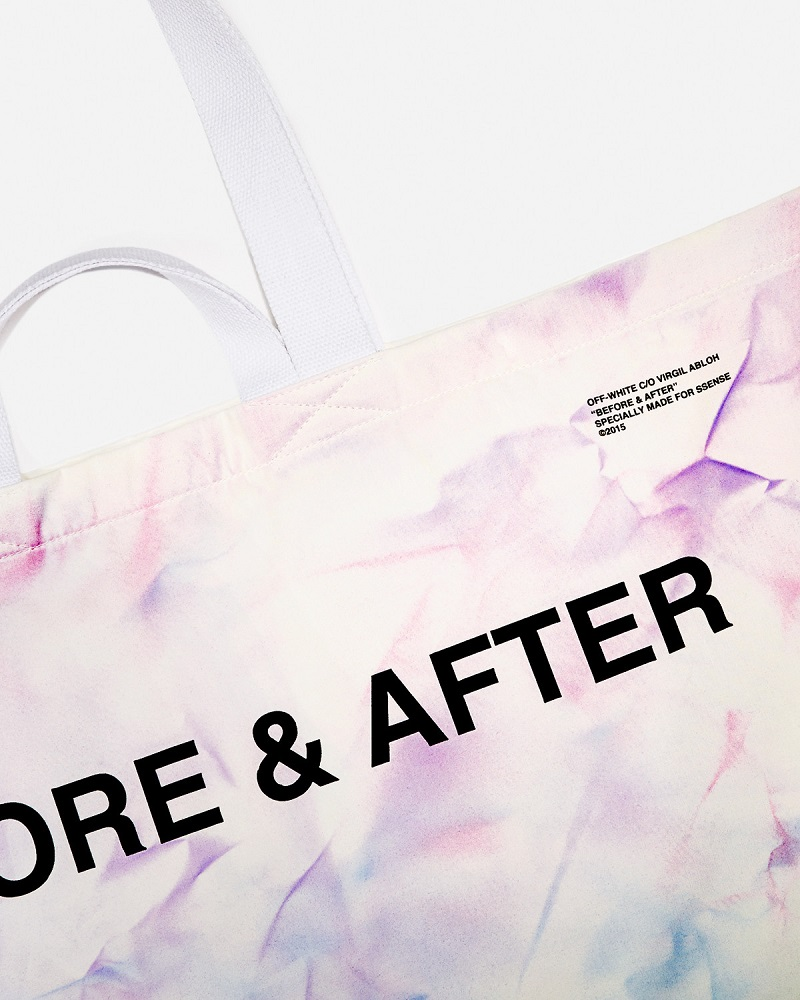 Off-White SSENSE Exclusive Blue & Purple Tie-Dye Tote