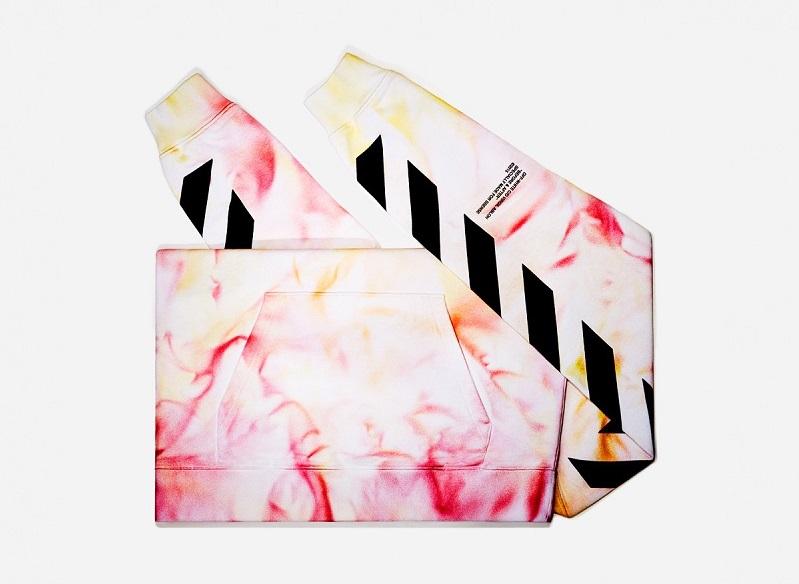 Off-White SSENSE Exclusive Red & Orange Tie-Dye Hoodie