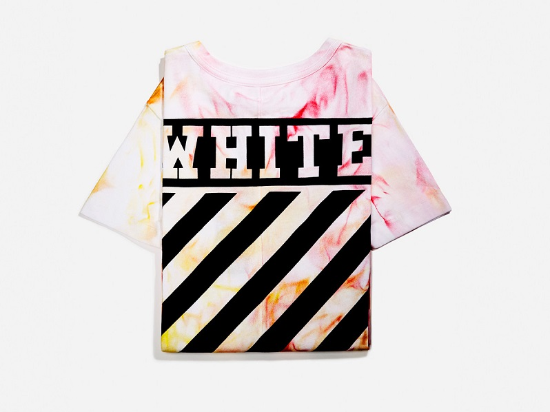 Off-White SSENSE Exclusive Red & Orange Tie-Dye T-Shirt