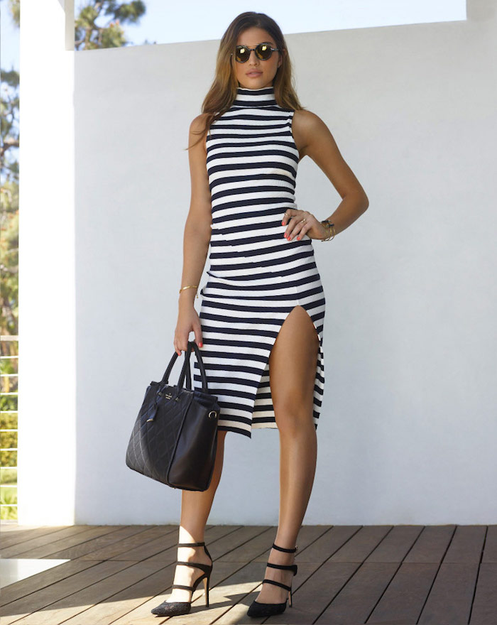 PFEIFFER Mondrian Ribbed Dress