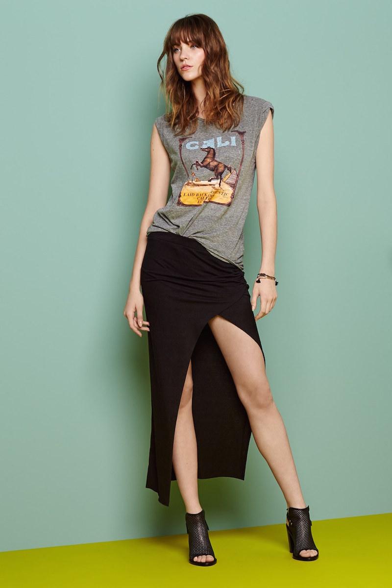 Pam & Gela Slit Maxi Skirt