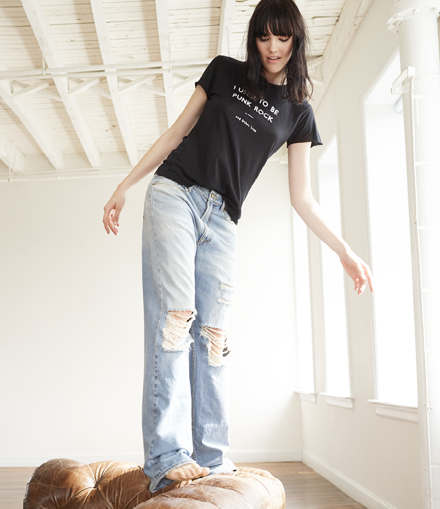 R13 Kurt Distressed Slouch Jeans