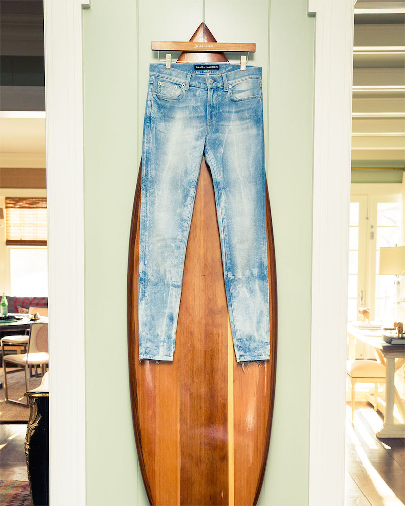 Ralph Lauren Black Label 400 Matchstick Distressed Denim Jeans