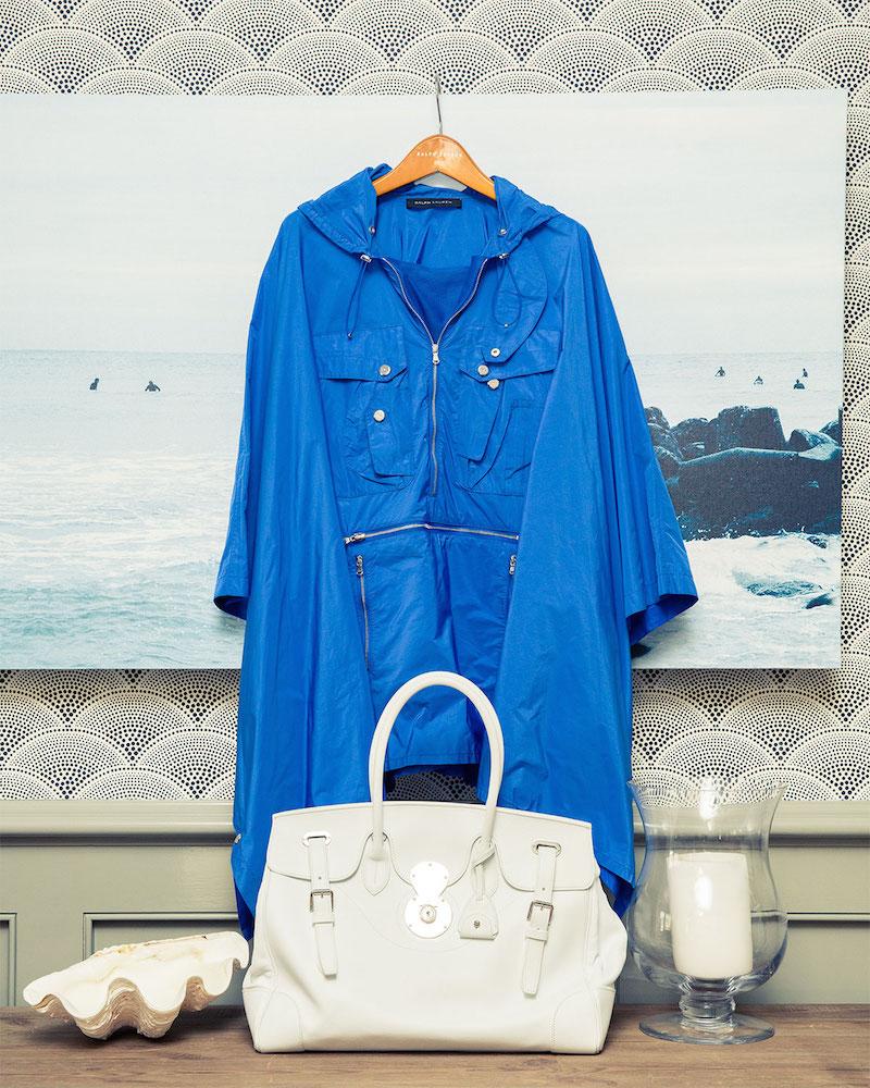Ralph Lauren Black Label Brayden Tech Fabric Packable Poncho