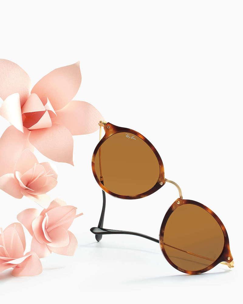 Ray-Ban Round Plastic Metal Sunglasses