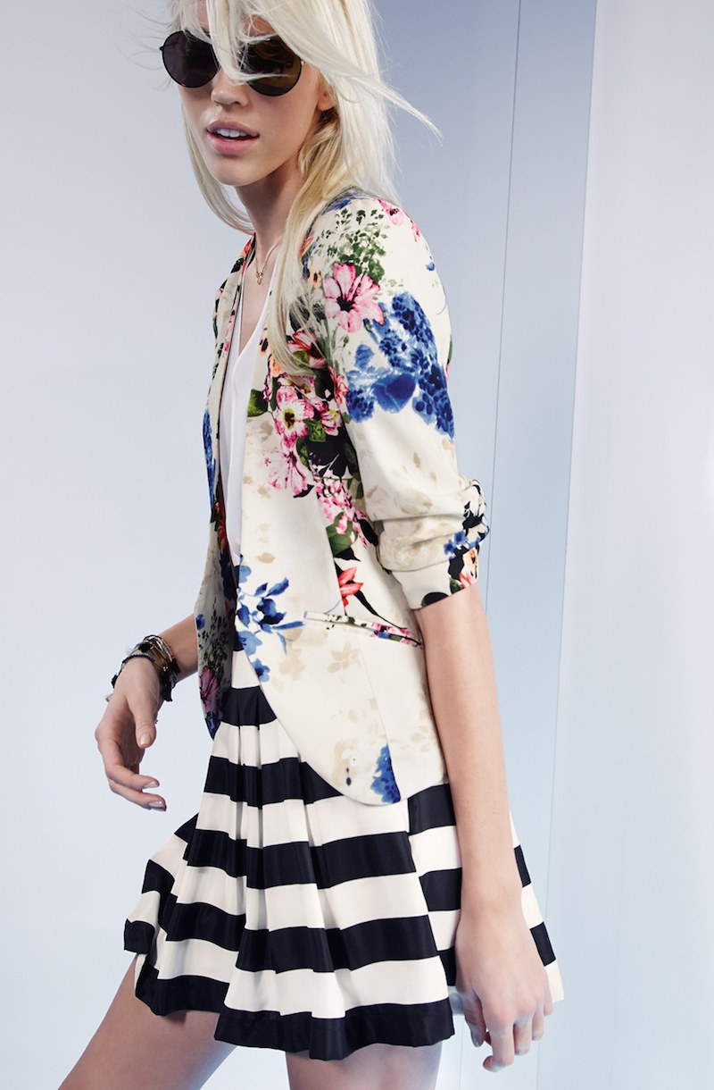Ro & De Floral Print Blazer