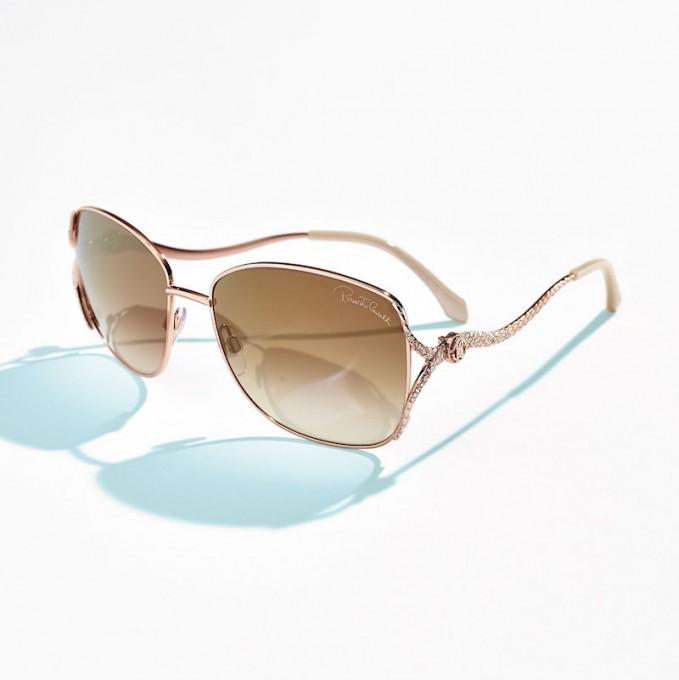 Roberto Cavalli Snake-Temple Aviator Sunglasses