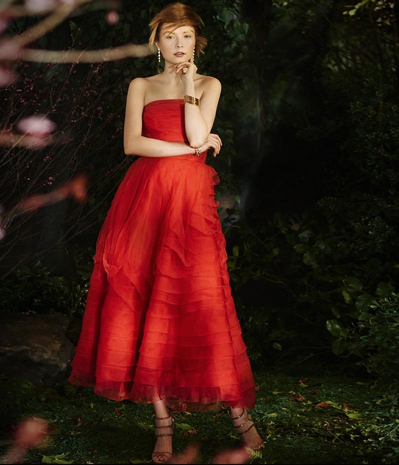 Sachin & Babi Noir Rosaline Strapless Organza Gown