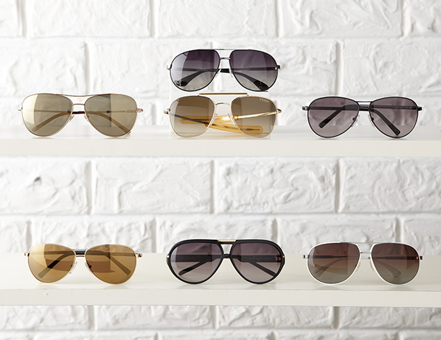 Shop by Shape: Aviator Sunglasses at MYHABIT