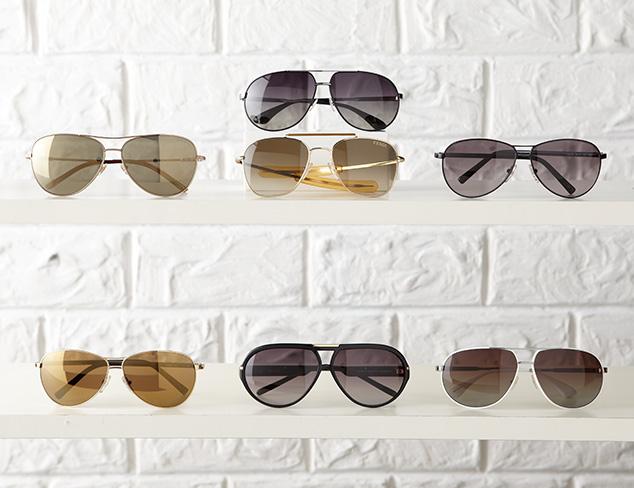 Shop by Shape: Aviator Sunglasses at MYHABIT