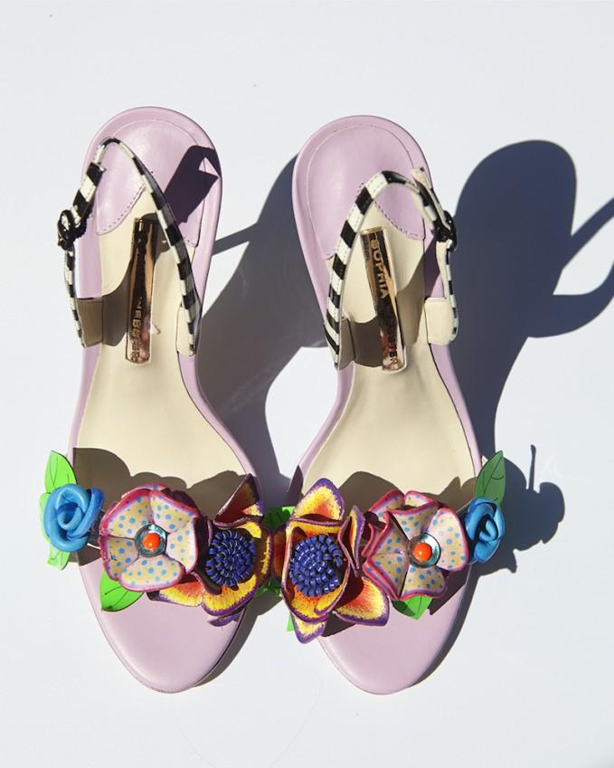 Sophia Webster Lilico 3D Floral Leather Sandals