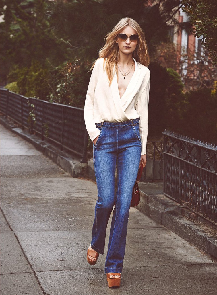 Stella McCartney High Waisted Flare Jeans