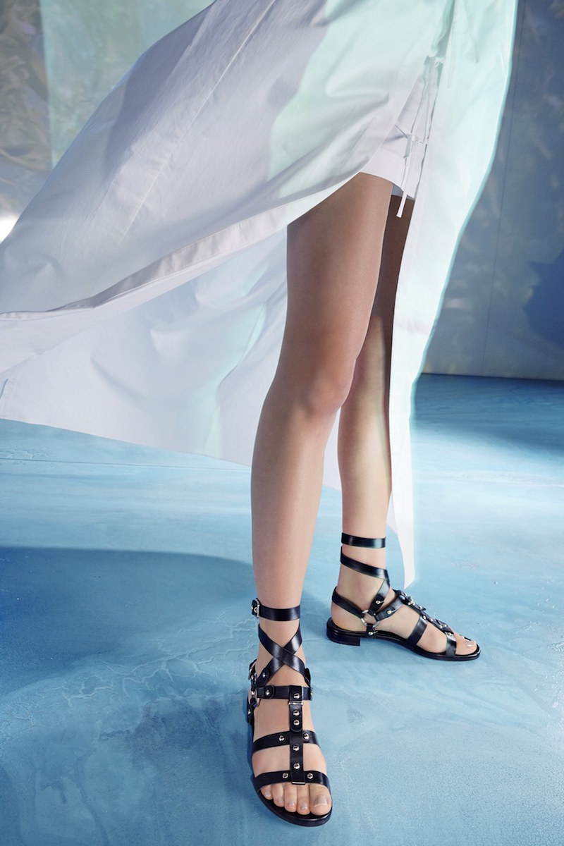 Stuart Weitzman On the Run Leather Sandal