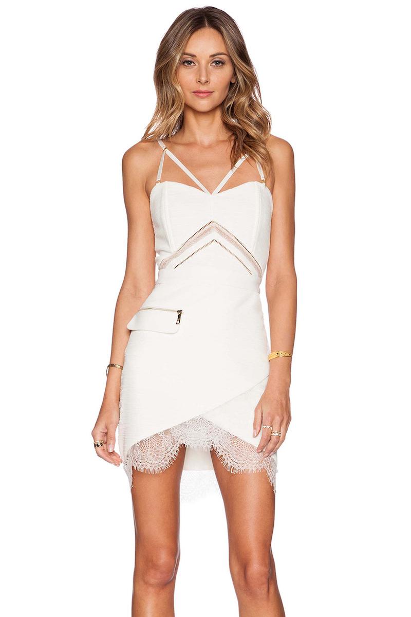 Three Floor Do It White Dress