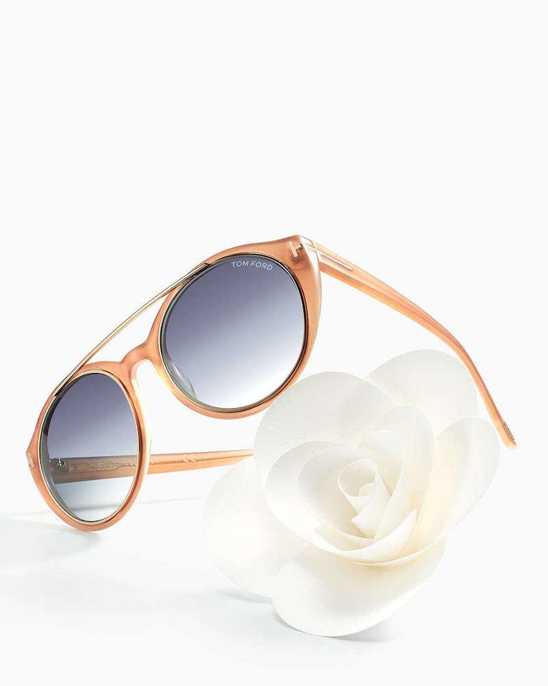 Tom Ford Joan Two-Tone Aviator Sunglasses
