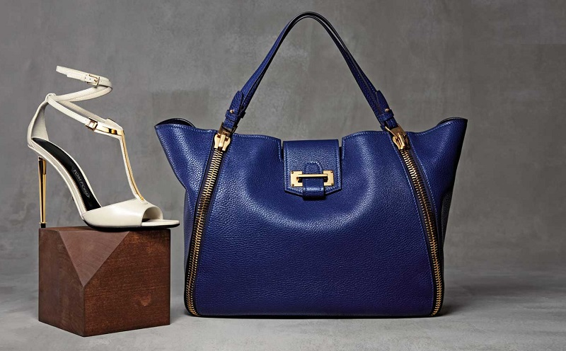Tom Ford Sedgwick Double-Zip Leather Tote Bag