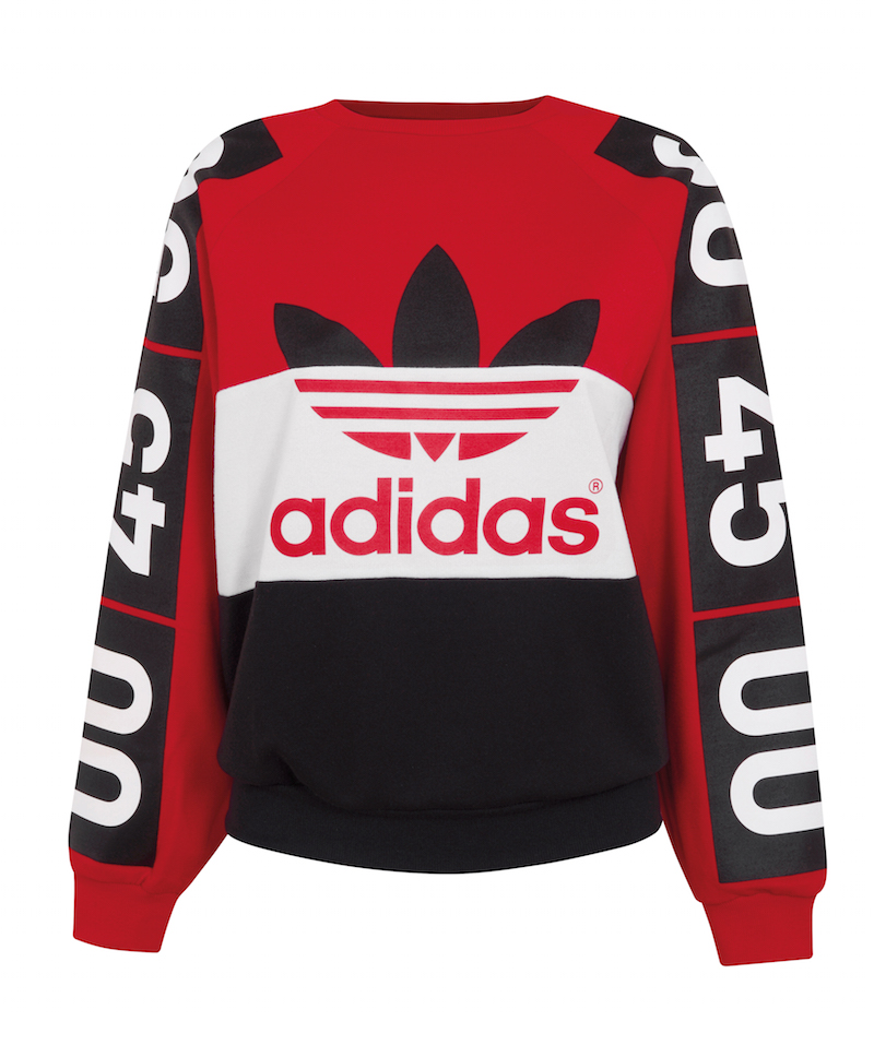 Topshop x adidas Originals Superstar Colour-Block Sweatshirt_