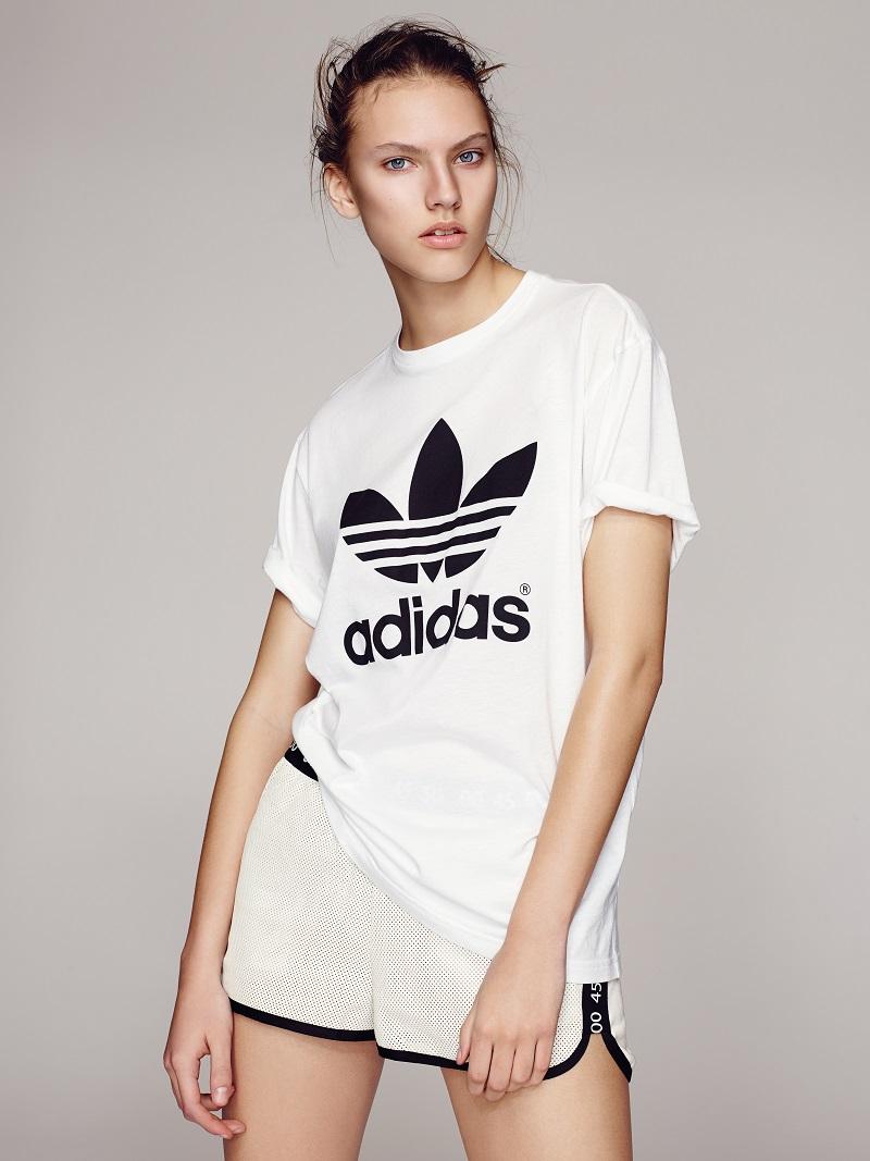 Topshop x adidas Originals Trefoil Tee