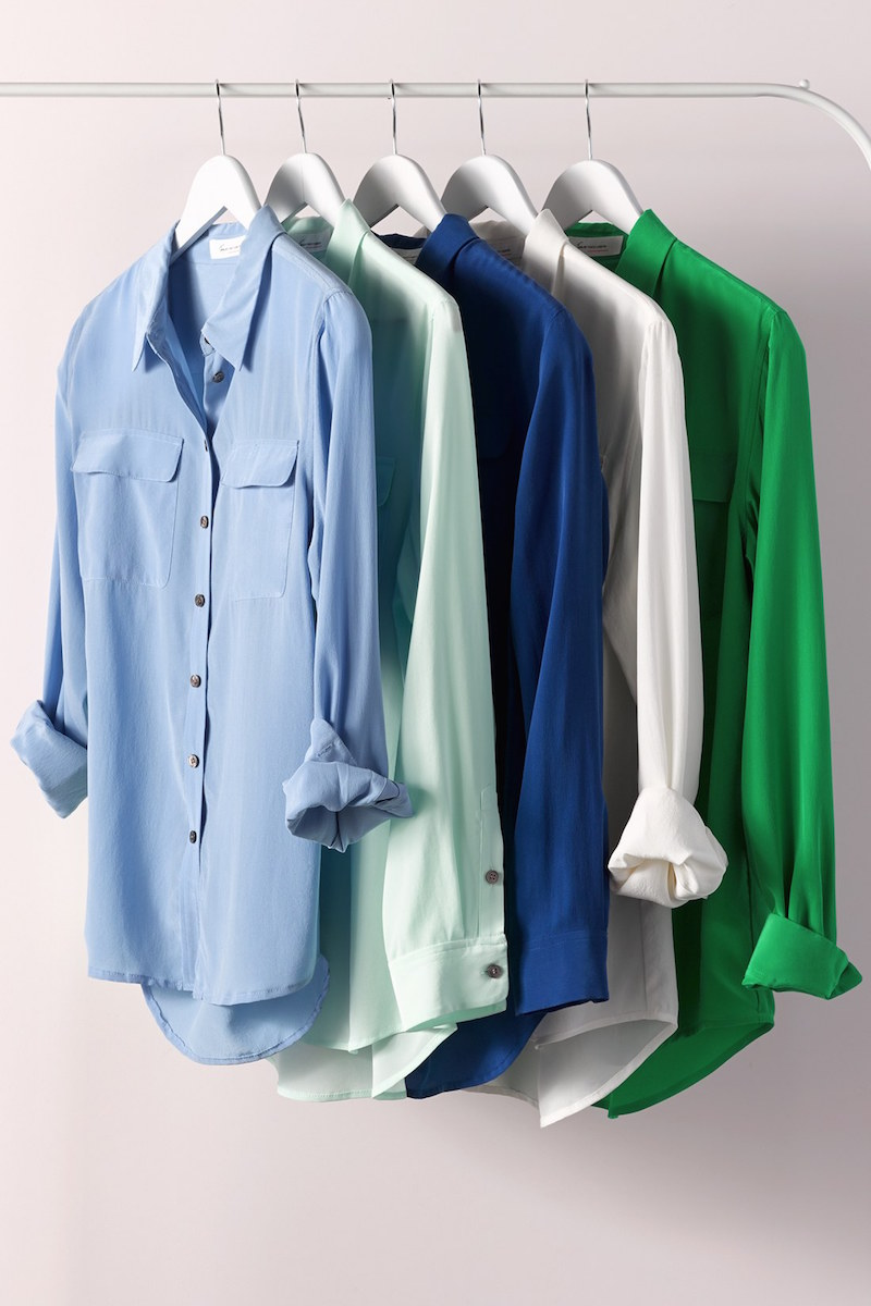 Two by Vince Camuto Silk Utility Blouse