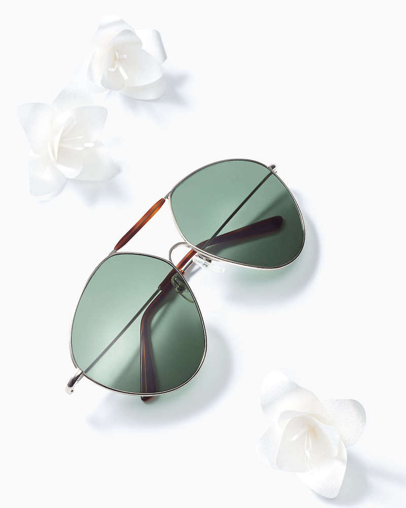 Valentino Mask Two-Tone Aviator Sunglasses