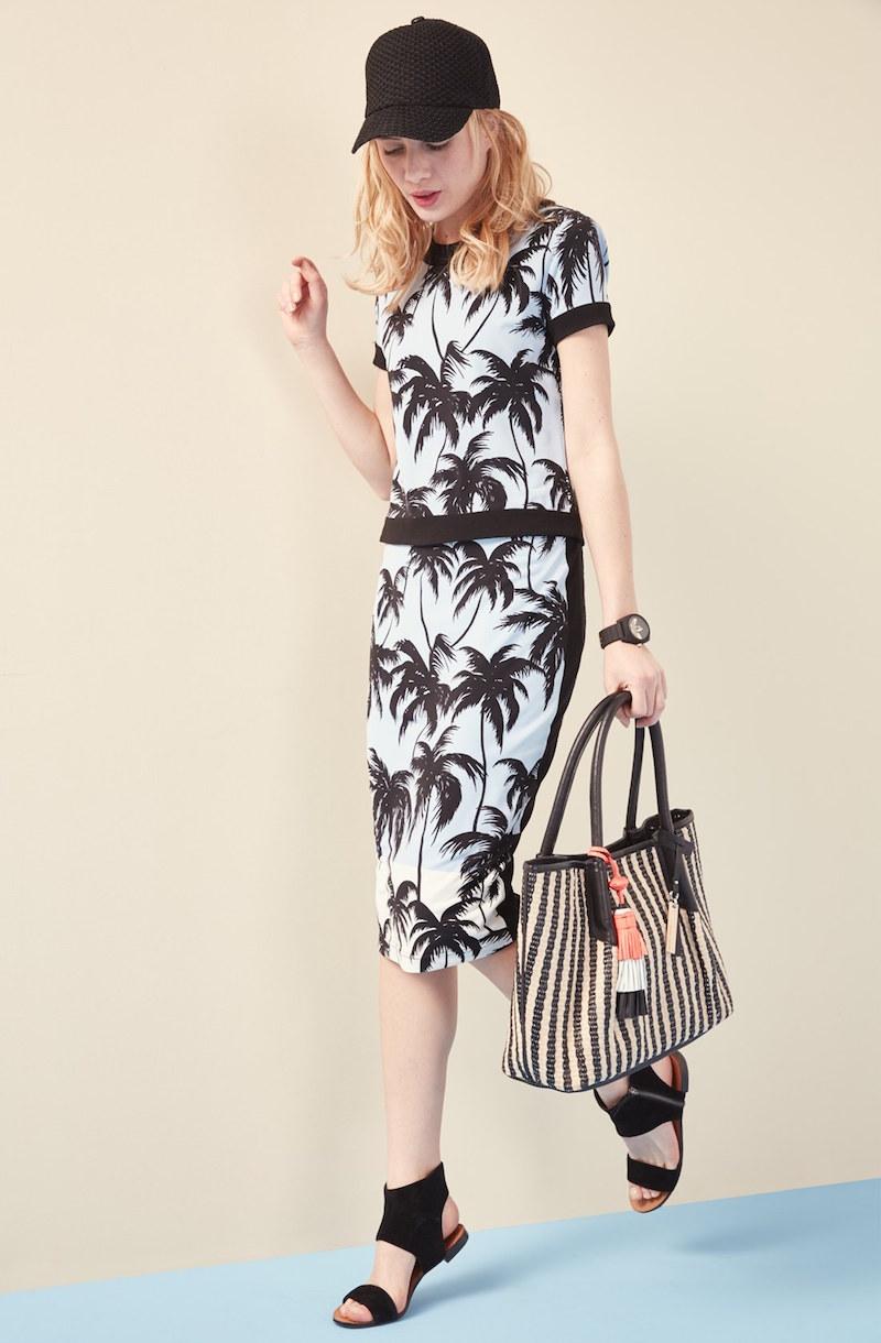 Vince Camuto Palm Horizon Pencil Skirt