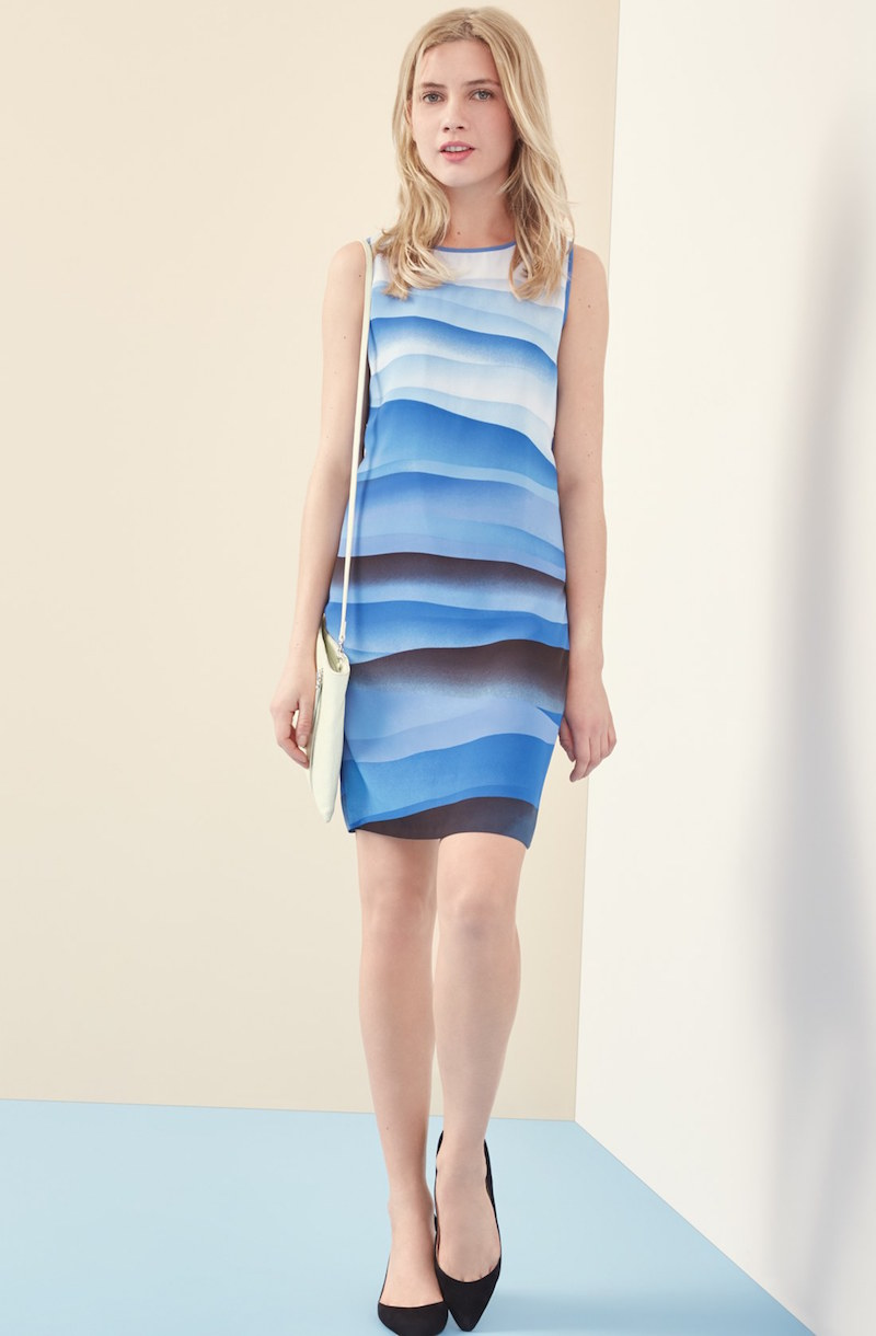 Vince Camuto Print Sleeveless Shift Dress