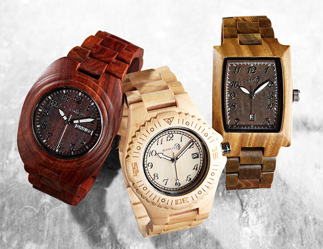 $55 & Under Earth Wood Watches at MYHABIT