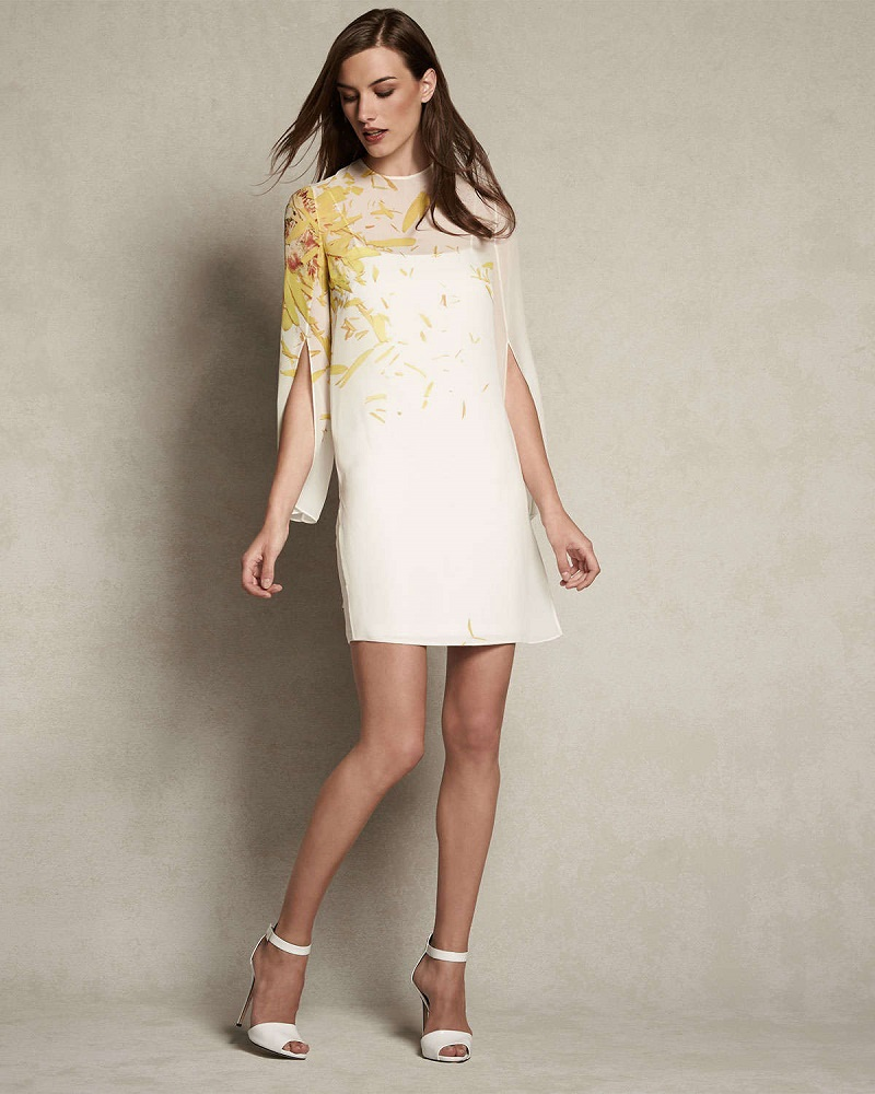 Akris Calendula-Print Georgette Tunic Dress