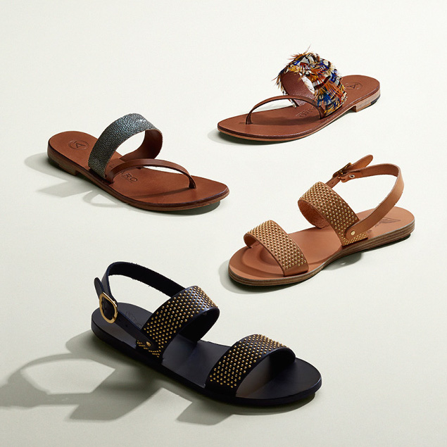 Ancient Greek Sandals Dinami Double-Band Sandals