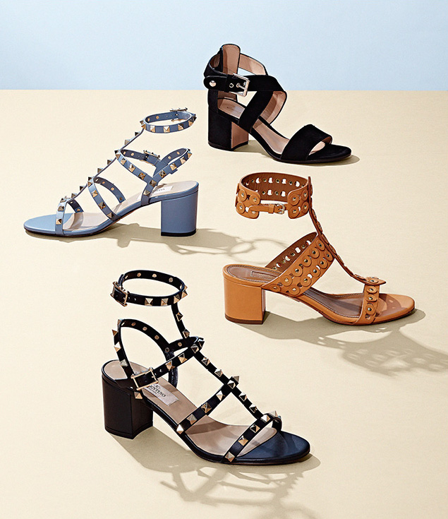 Aquazzura Studded Rebel T-Strap Sandals