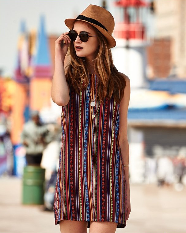 BB Dakota Gilly Tribal Jacquard Dress