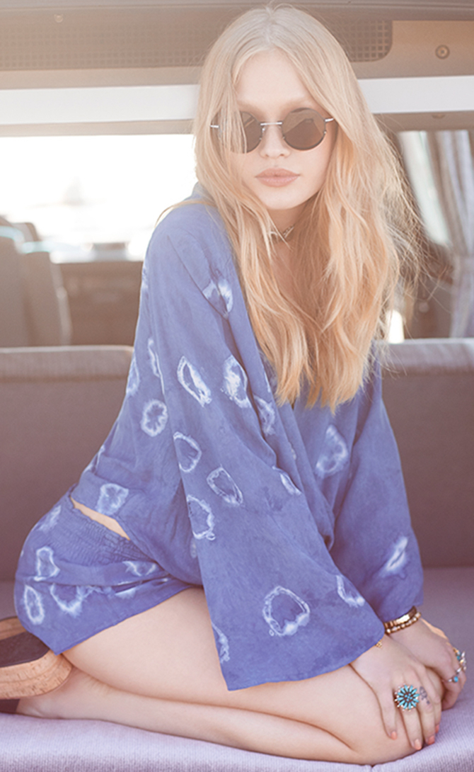 Blue Life Long Sleeve Hayley Top