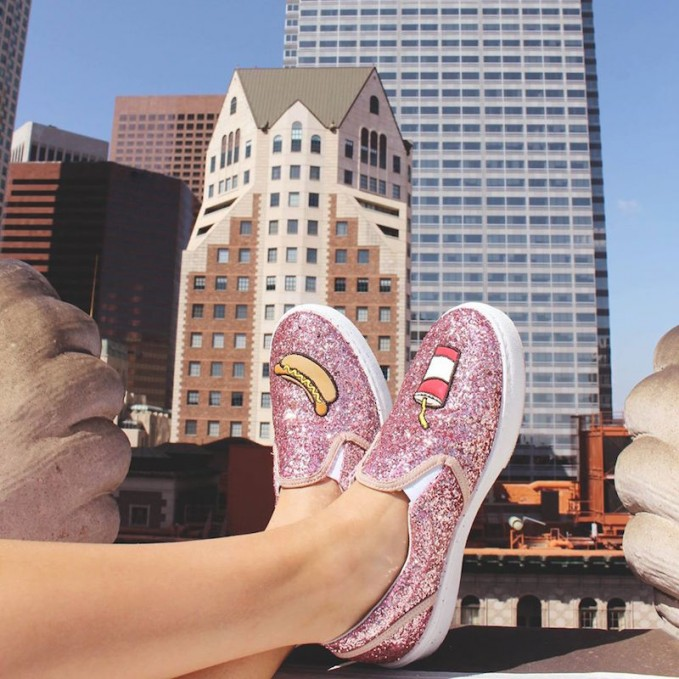Chiara Ferragni Glitter Hot Dog and Soda Slip-On Sneaker