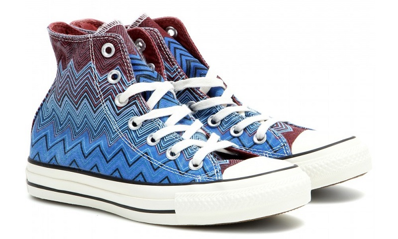 Converse X Missoni Chuck Taylor high-top printed sneakers-