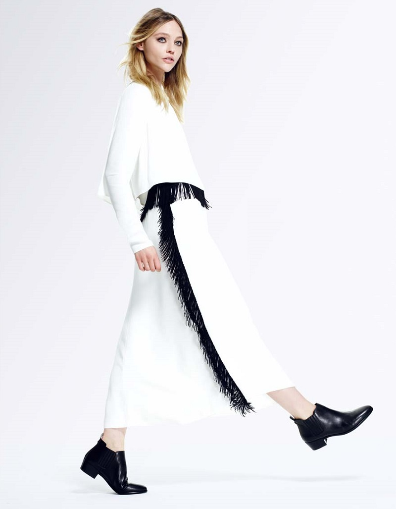 Derek Lam Long-Sleeve Column Gown