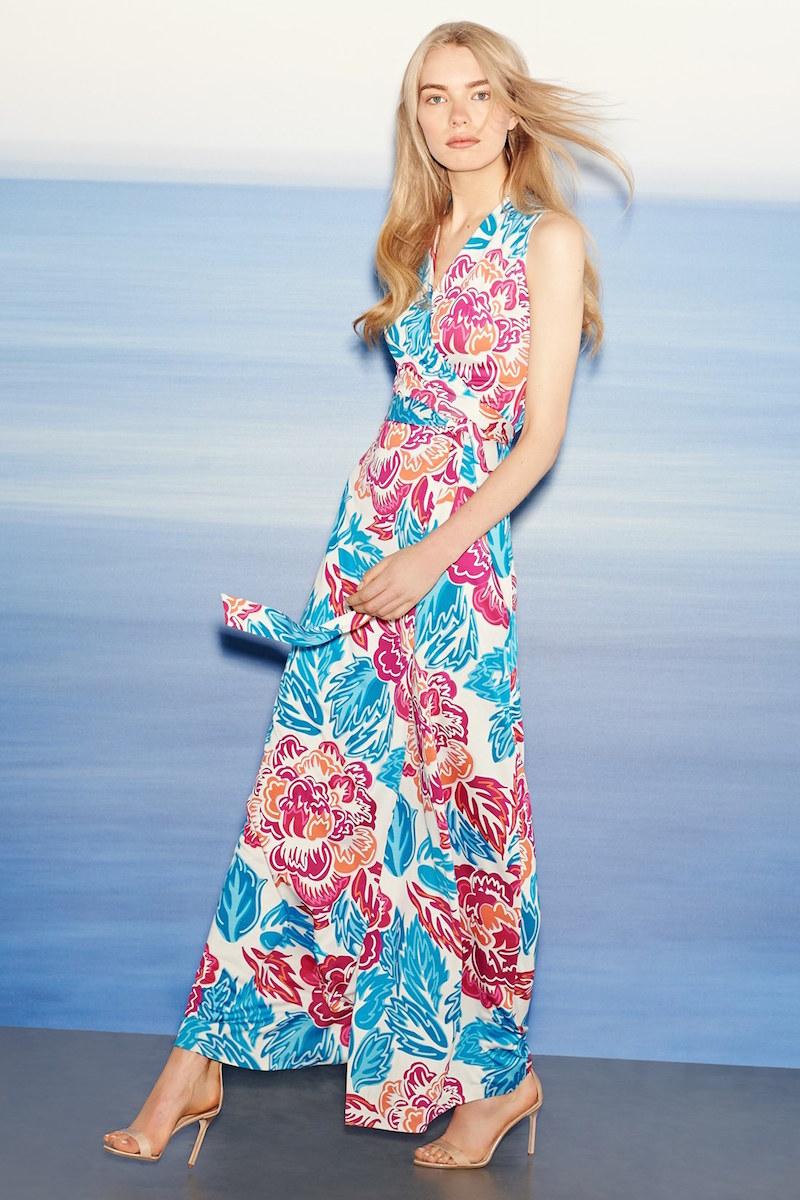 Diane von Furstenberg New Yahzi Two Silk Wrap Maxi Dress