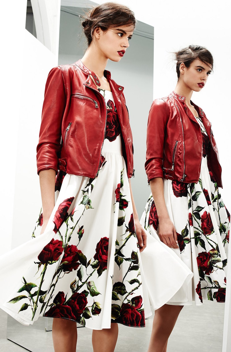 Dolce&Gabbana Washed Nappa Leather Moto Jacket