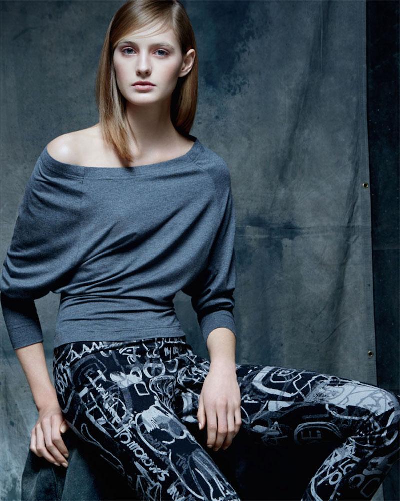 Donna Karan Bateau-Neck Long-Sleeve Top