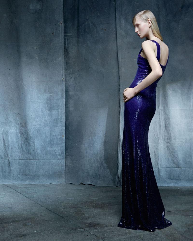 Donna Karan Sleeveless Ombre-Sequin Gown