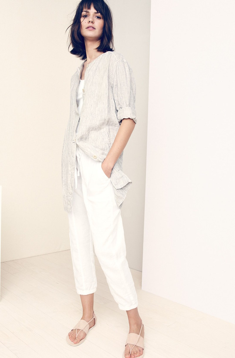 Eileen Fisher Organic Linen Crop Pants